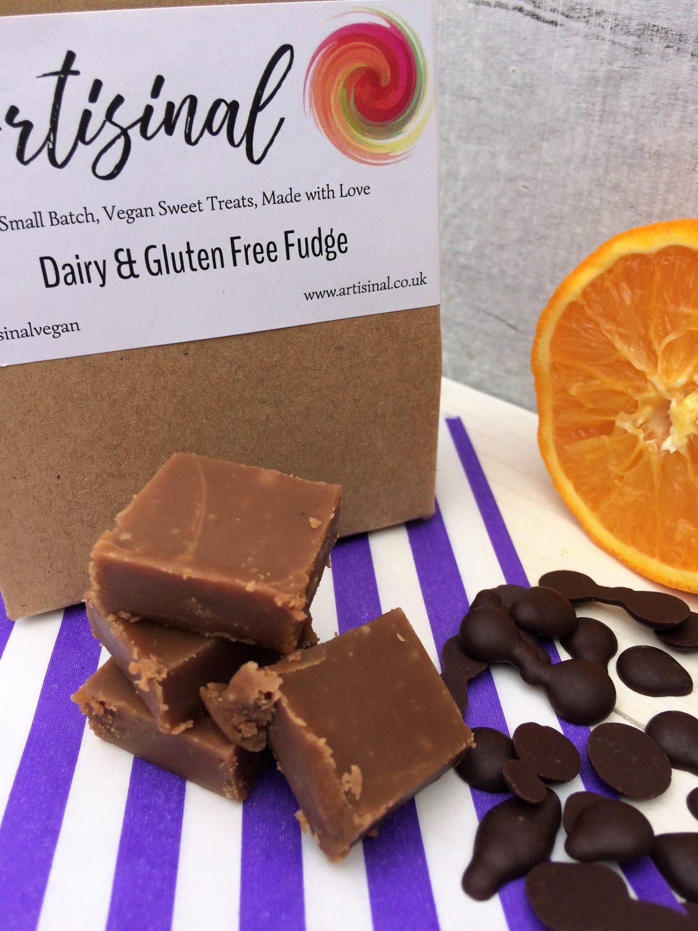 Vegan Fudge Chocolate Orange Dairy And Gluten Free No Plastic