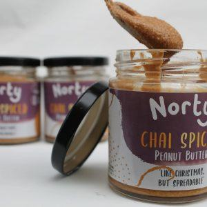 chai spiced peanut butter is the perfect protein vegan snack